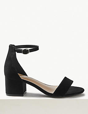 Wide Fit Block Heel Two Part Sandals
