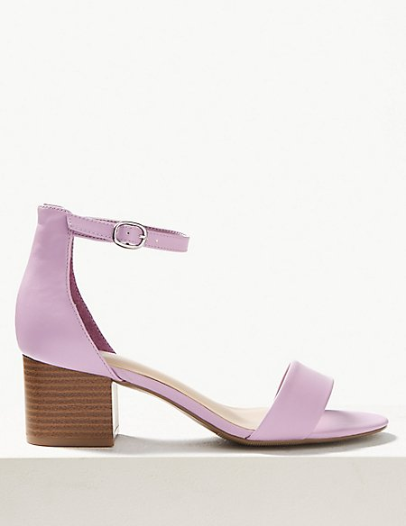Wide Fit Two Part Ankle Strap Sandals