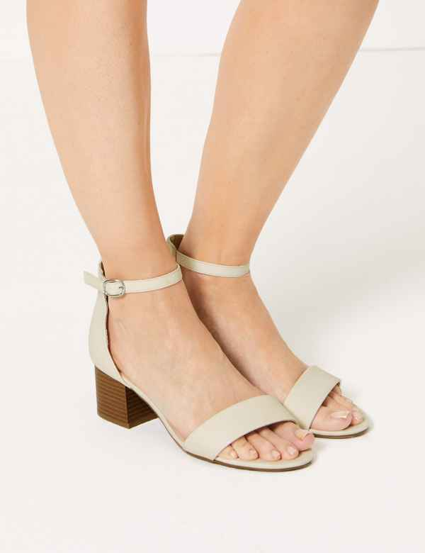 2f631a4c862 Wide Fit Two Part Ankle Strap Sandals. M S Collection