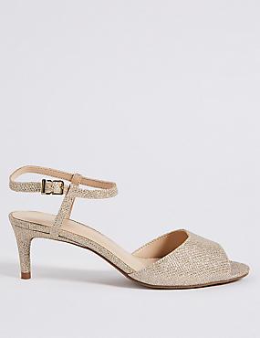 Wide Fit Kitten Heel Sandals