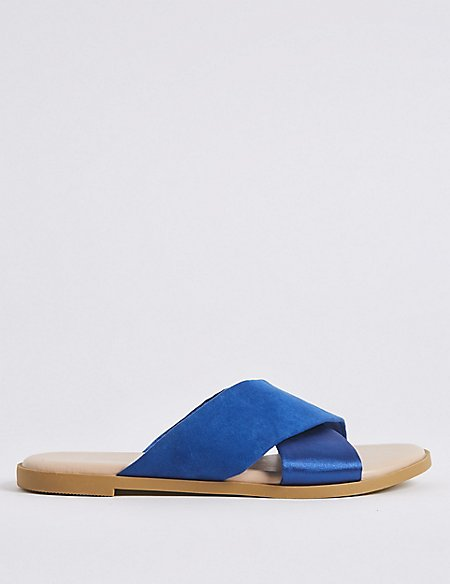 Extra Wide Fit Cross Strap Sandals