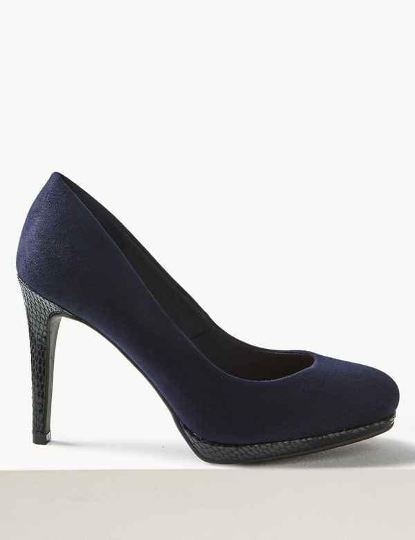 df064063390 Wide Fit Stiletto Platform Court Shoes