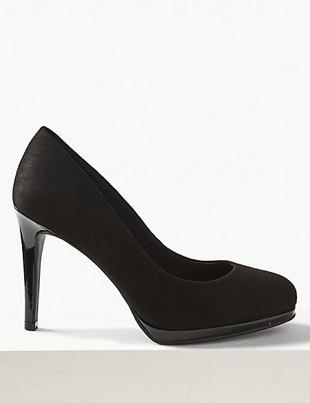 Wide Fit Stiletto Platform Court Shoes