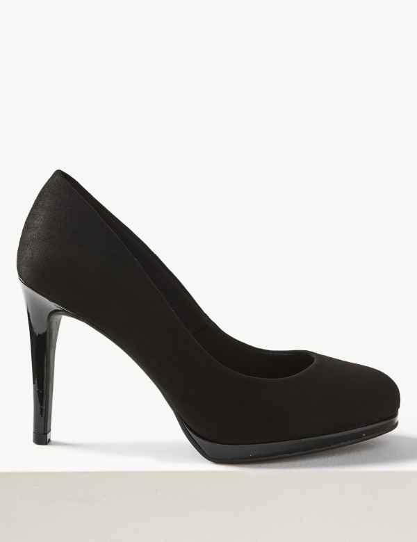 fd41d864ec5 Wide Fit Stiletto Platform Court Shoes