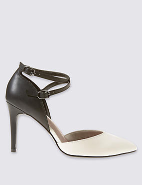 Faux Leather Stiletto Court Shoes