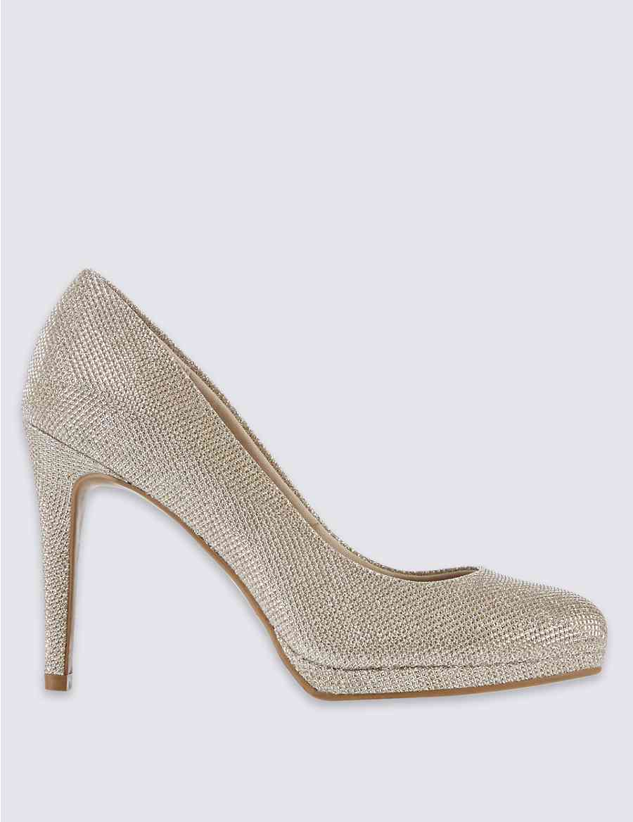 cdc7ea6a1f1 Wide Fit Stiletto Platform Court Shoes