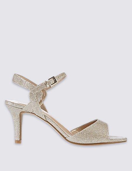Wide Fit Stiletto Twist Detail Sandals