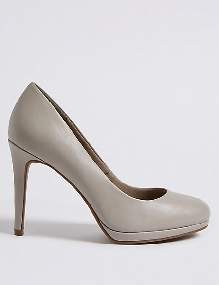 Wide Fit Stiletto Heel Platform Court Shoes
