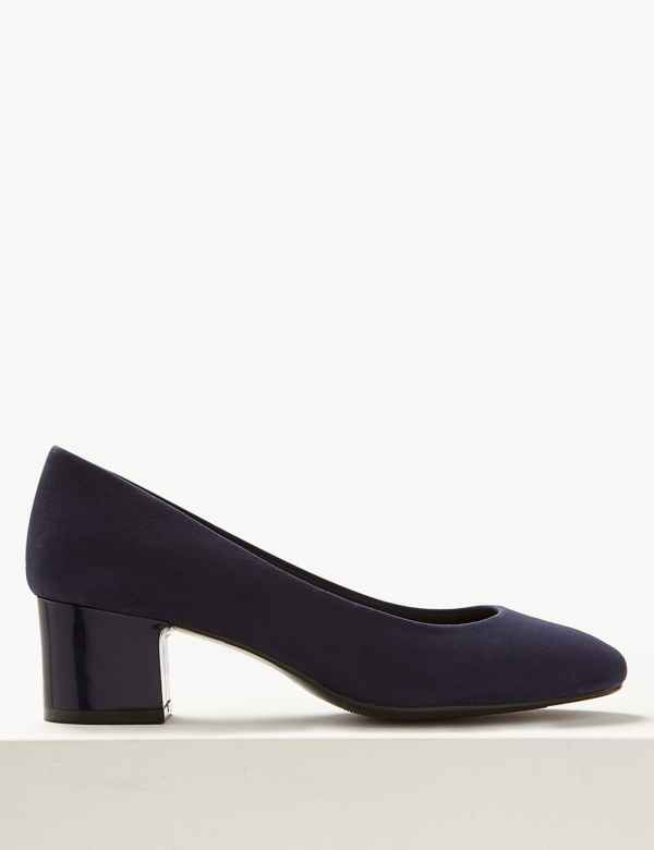 6f3a1425c99 Wide Fit Block Heels Court Shoes. Wide Fit