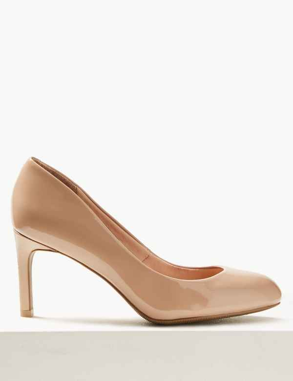b8177d21b53 Wide Fit Almond Toe Court Shoes