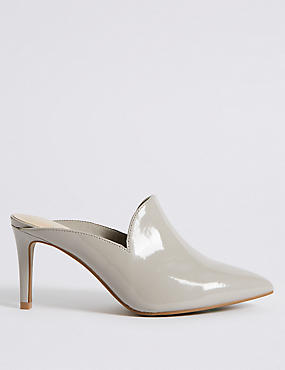 Extra Wide Fit Stiletto Heel Mule Shoes