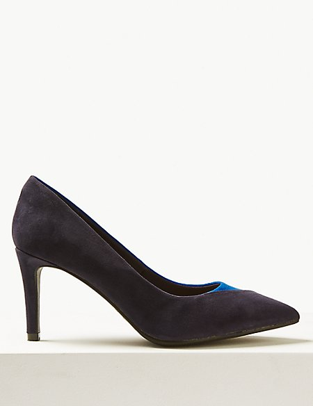 Extra Wide Fit Stiletto Heel Court Shoes