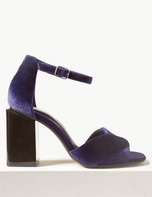 676ef39f9b90e4 Wide Fit Block Heel Sandals £39.50