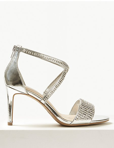 Extra Wide Fit Stiletto Heel Sandals