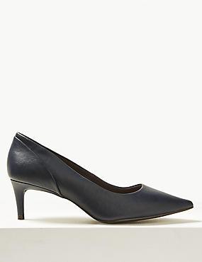 Wide Fit Kitten Heel Court Shoes