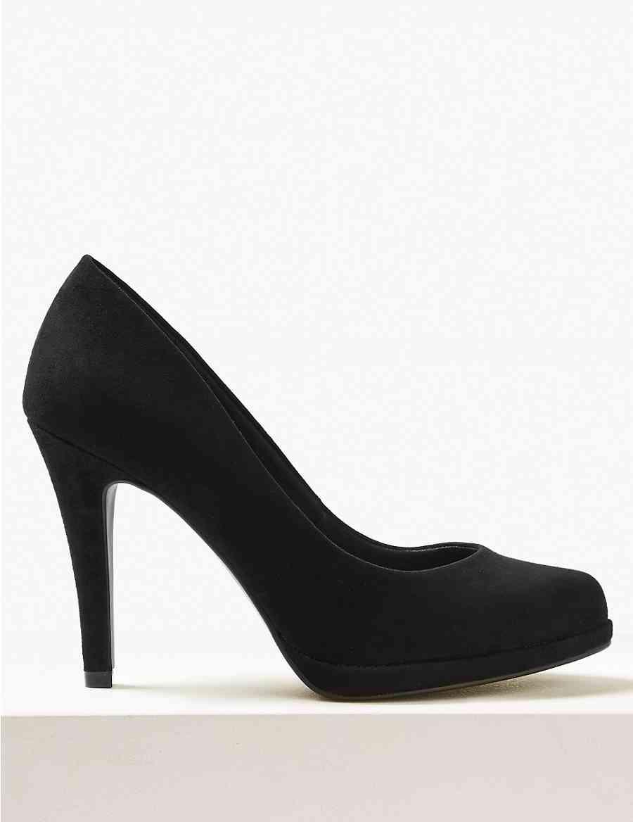 580345862fe9 Wide Fit Stiletto Heel Platform Court Shoes