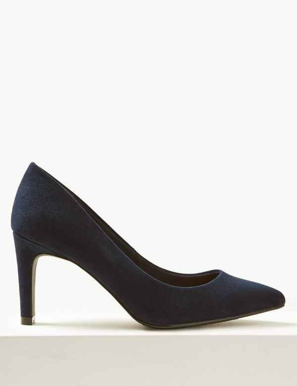 0aa951c2e902 Wide Fit Stiletto Heel Pointed Court Shoes