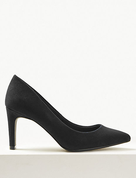 Wide Fit Stiletto Heel Pointed Court Shoes
