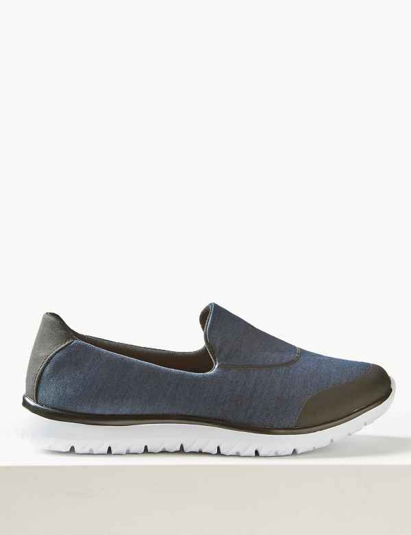 0d80486922 Wide Fit Slip-on Trainers