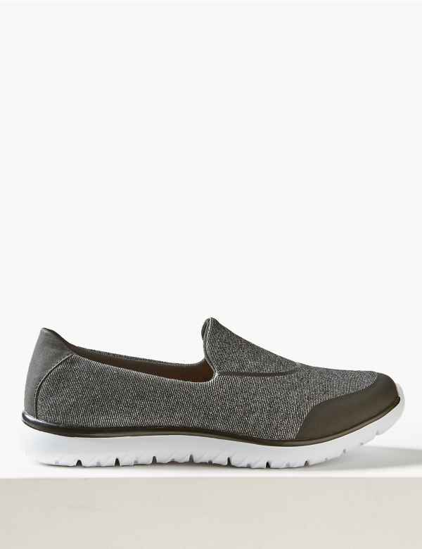 promo code 32927 f7f1a Wide Fit Slip-on Trainers