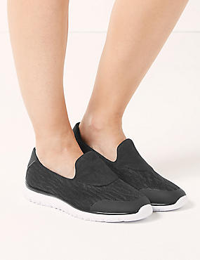 Wide Fit Slip-on Trainers