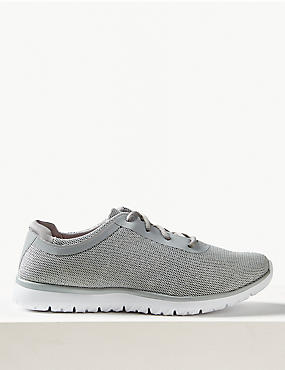 Wide Fit Lace-up Trainers