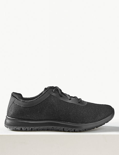 Shimmer Wide Fit Lace-up Trainers