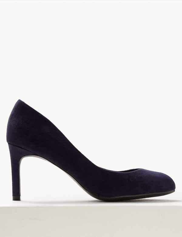 black court shoes 3.5 inch heel