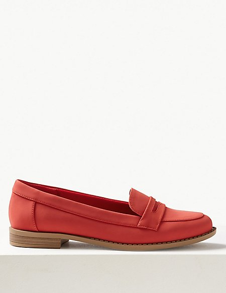 Extra Wide Fit Penny Loafers