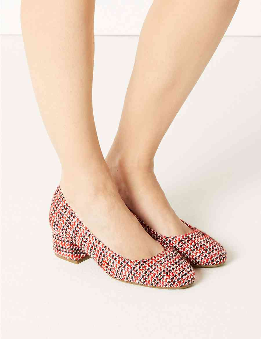 c3440061069 Extra Wide Fit Block Heel Court Shoes