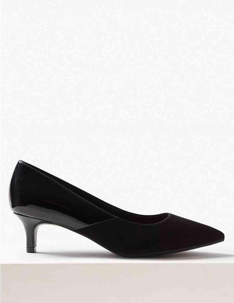 1485890d38c Extra Wide Fit Kitten Heel Court Shoes
