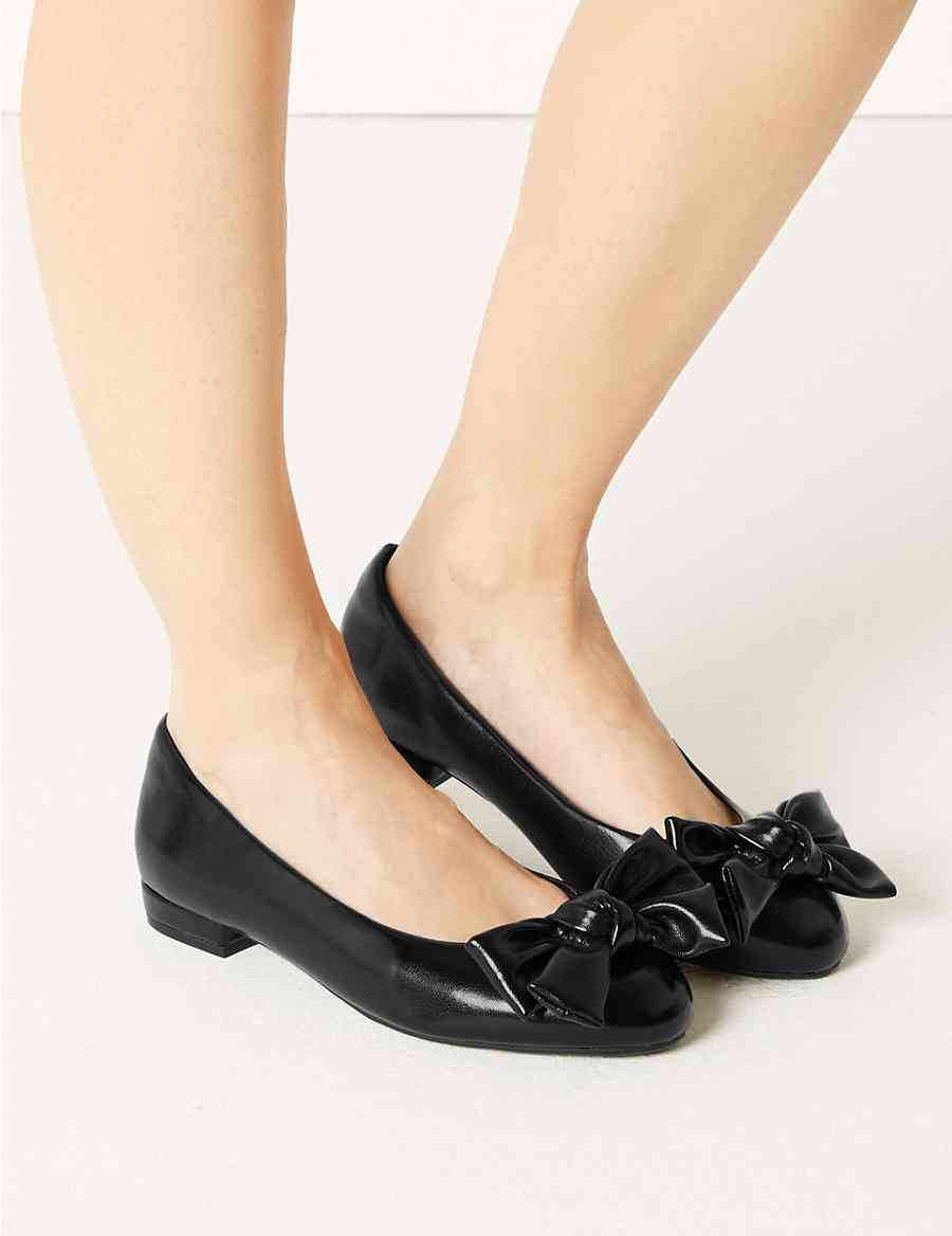d48990d3f9e Extra Wide Fit Bow Ballet Pumps