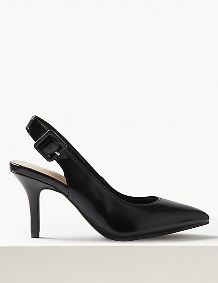 Extra Wide Fit Stiletto Heel Slingback Shoes