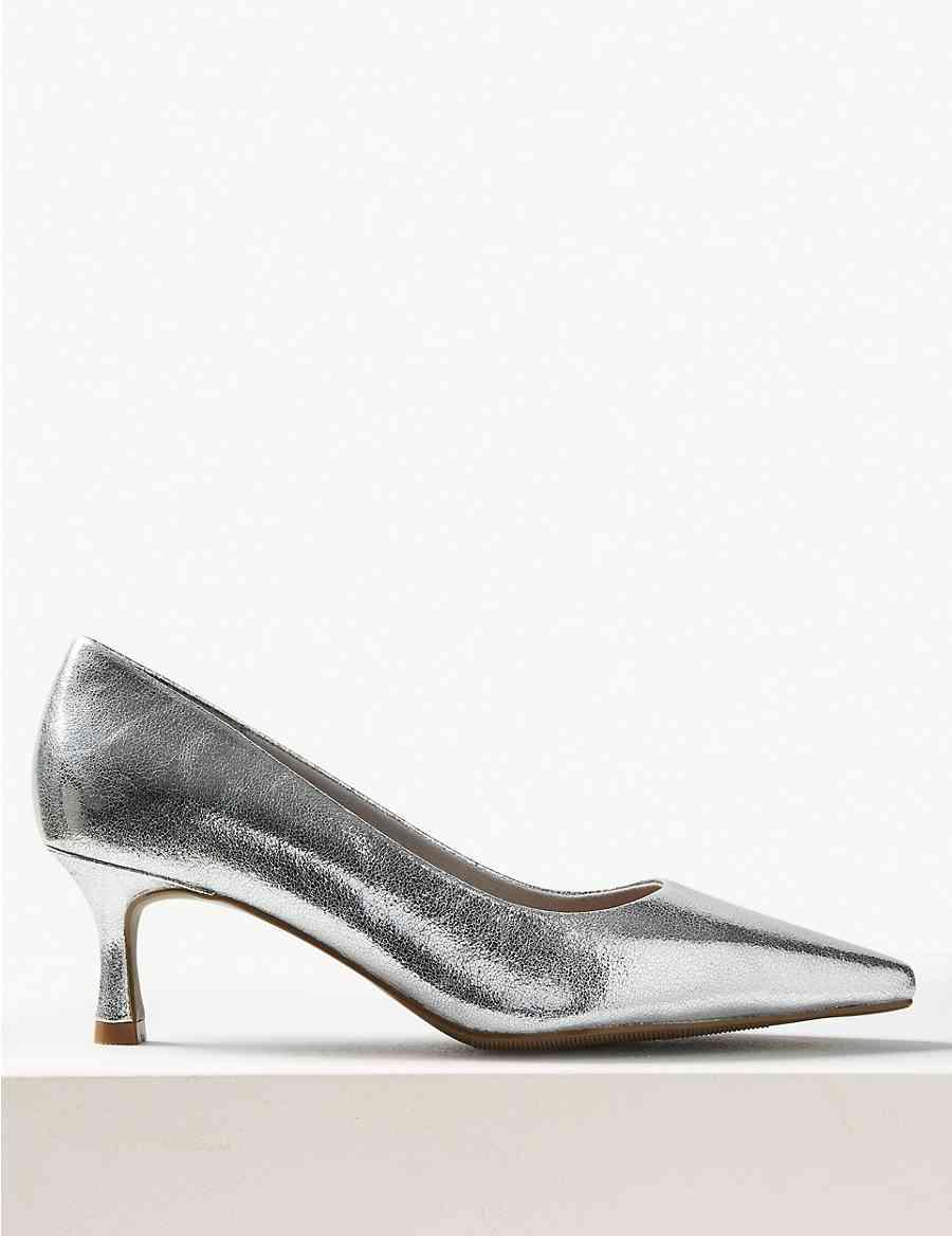 39a4e9a1f229 Wide Fit Kitten Heel Court Shoes