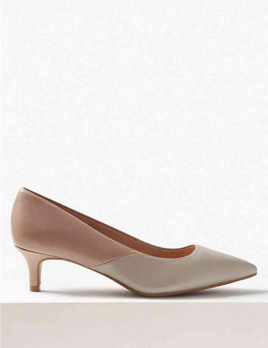 0c08df74709 Extra Wide Fit nbsp Kitten Heel nbsp Court Shoes