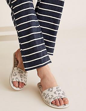 Open Toe Mule Slippers