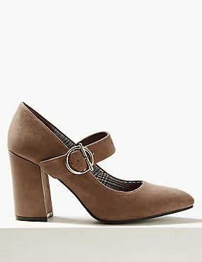 Block Heels Court Shoes