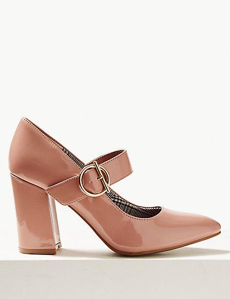 Block Heels Court Shoes