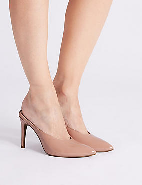 Stiletto Heel Pointed Mule Shoes