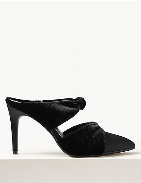 Knot Twist Stiletto Heel Mules