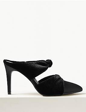 Knot Twist Stiletto Heel Mules