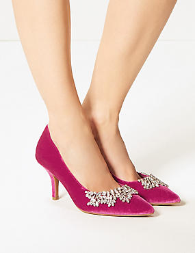 Stiletto Heel Embellished Court Shoes