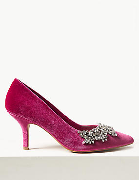 Stiletto Heel Embellished Court Shoes