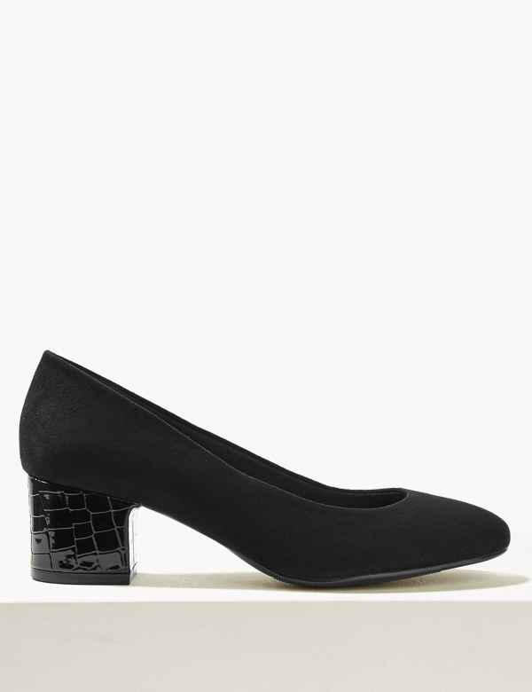 db0036209785 Block Heel Court Shoes