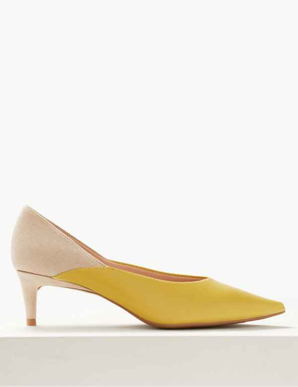 1707d782d63 Kitten Heel Pointed Court Shoes