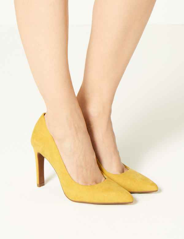 febd87f73fc Stiletto Heel Pointed Toe Court Shoes. M S Collection