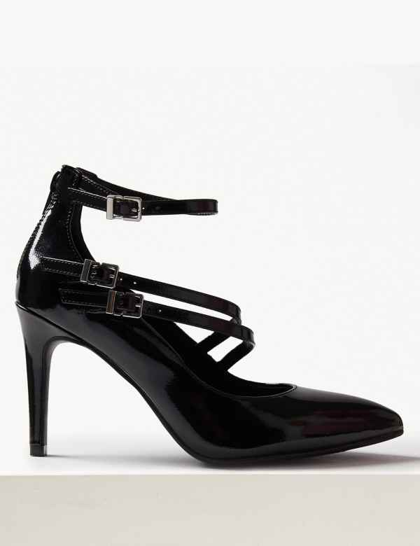 1c1c25c30 Stiletto Heel Multi Strap Pointed Court Shoes