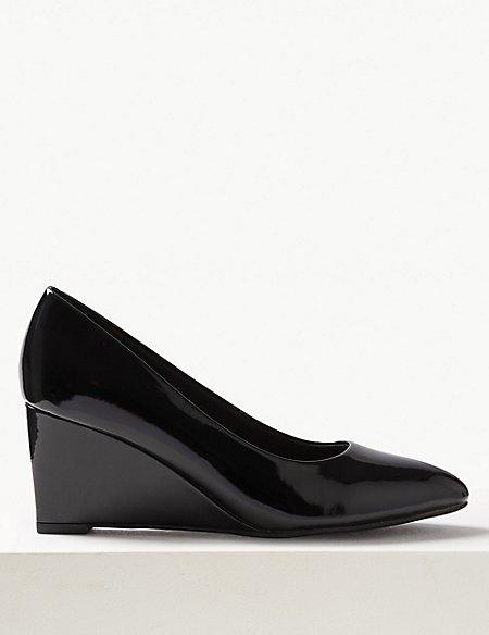 Wedge Heel Court Shoes