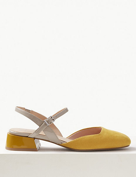 Strap Slingback Shoes