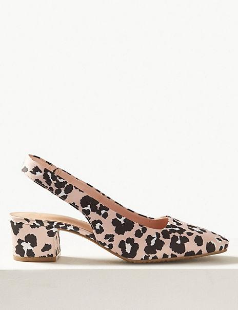 796f1940d28 Square Toe Slingback Shoes